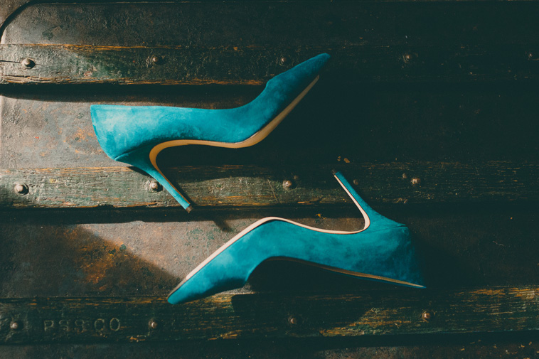 wedding turquoise shoe photo