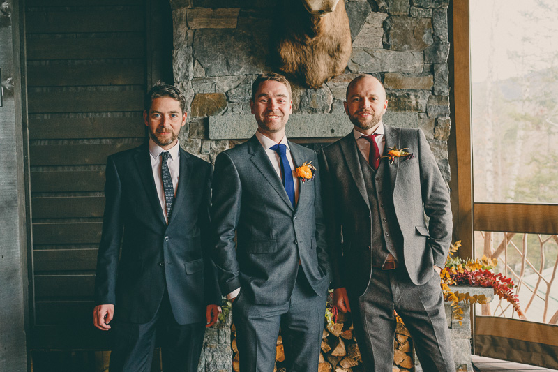 groomsmen wedding lake placid lodge