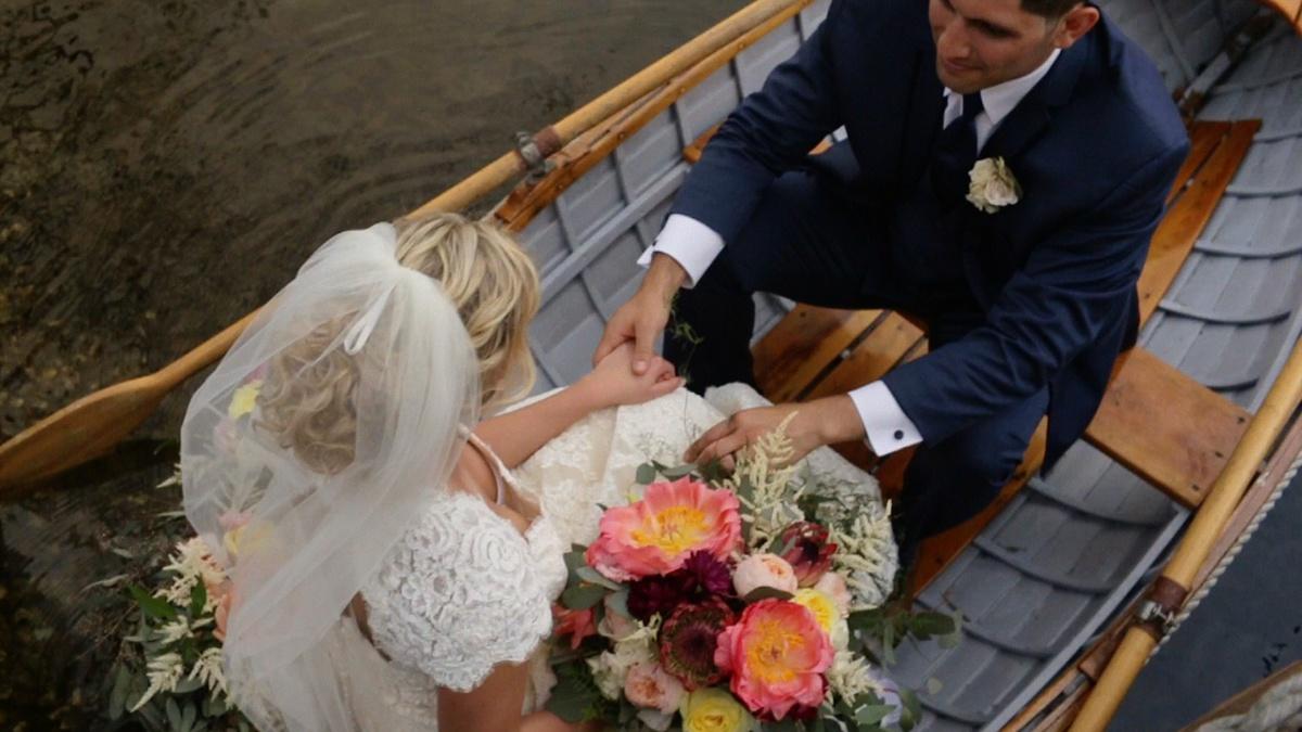 wedding boat photo