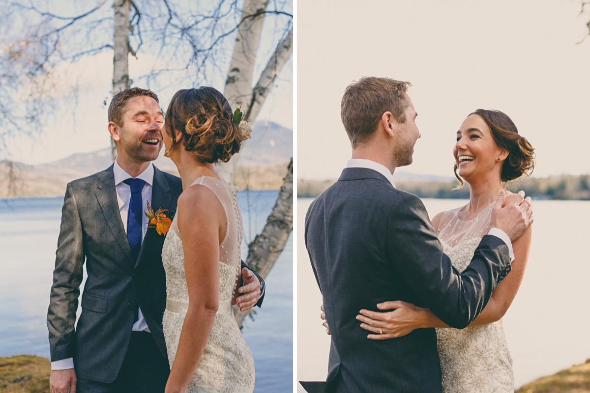 first look destination mountain wedding