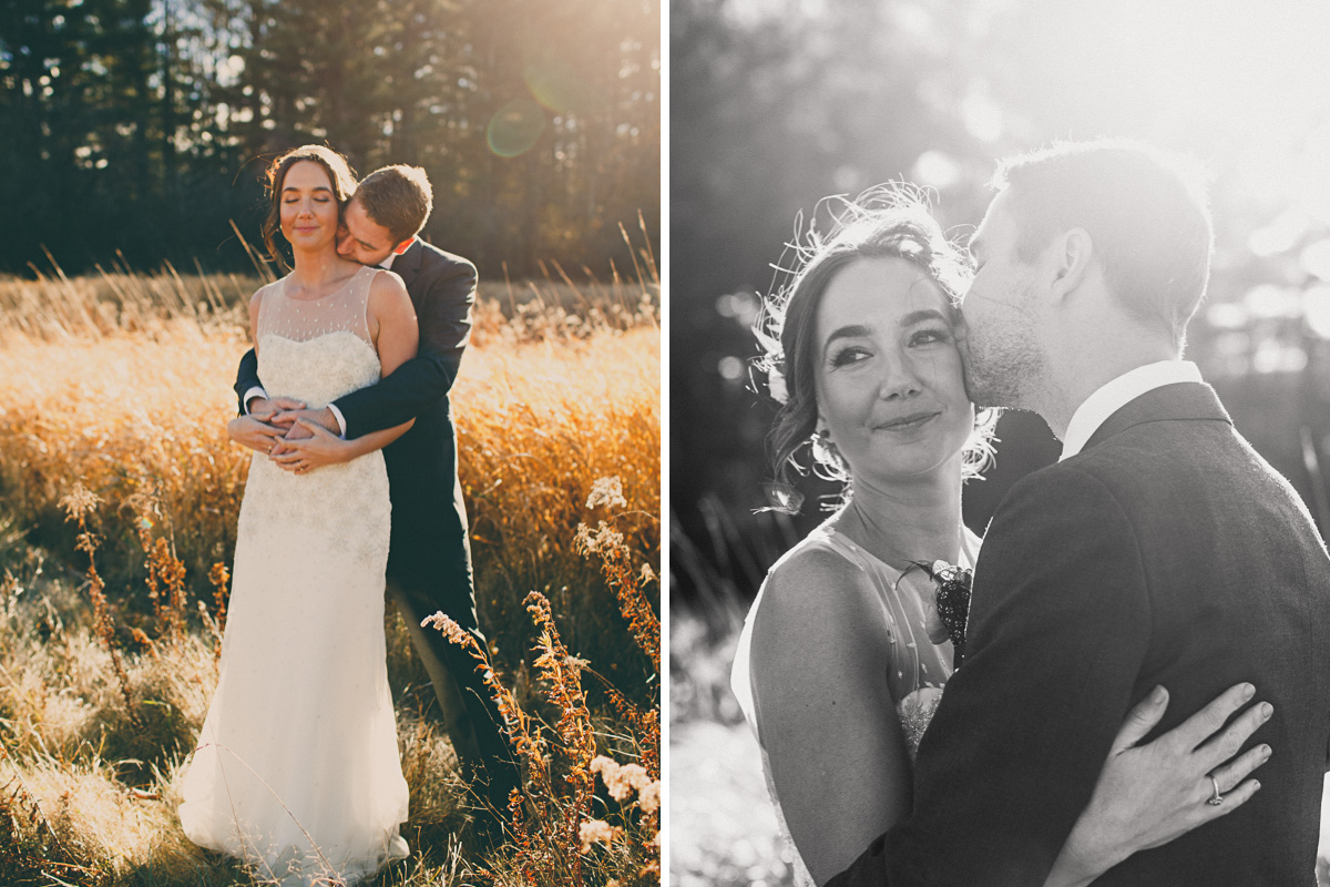 sun flare portraits elopement