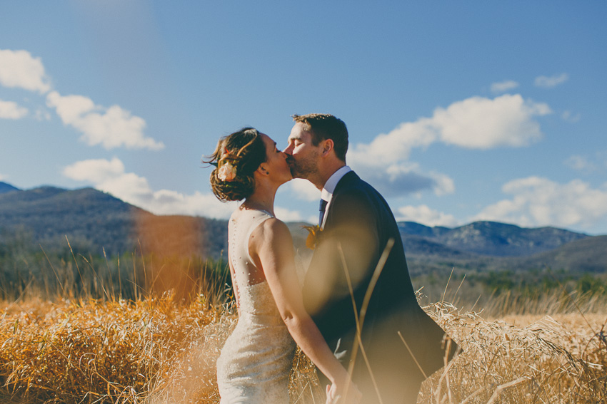 destination mountain field wedding elopement photos