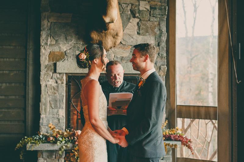 lake placid lodge wedding ceremony