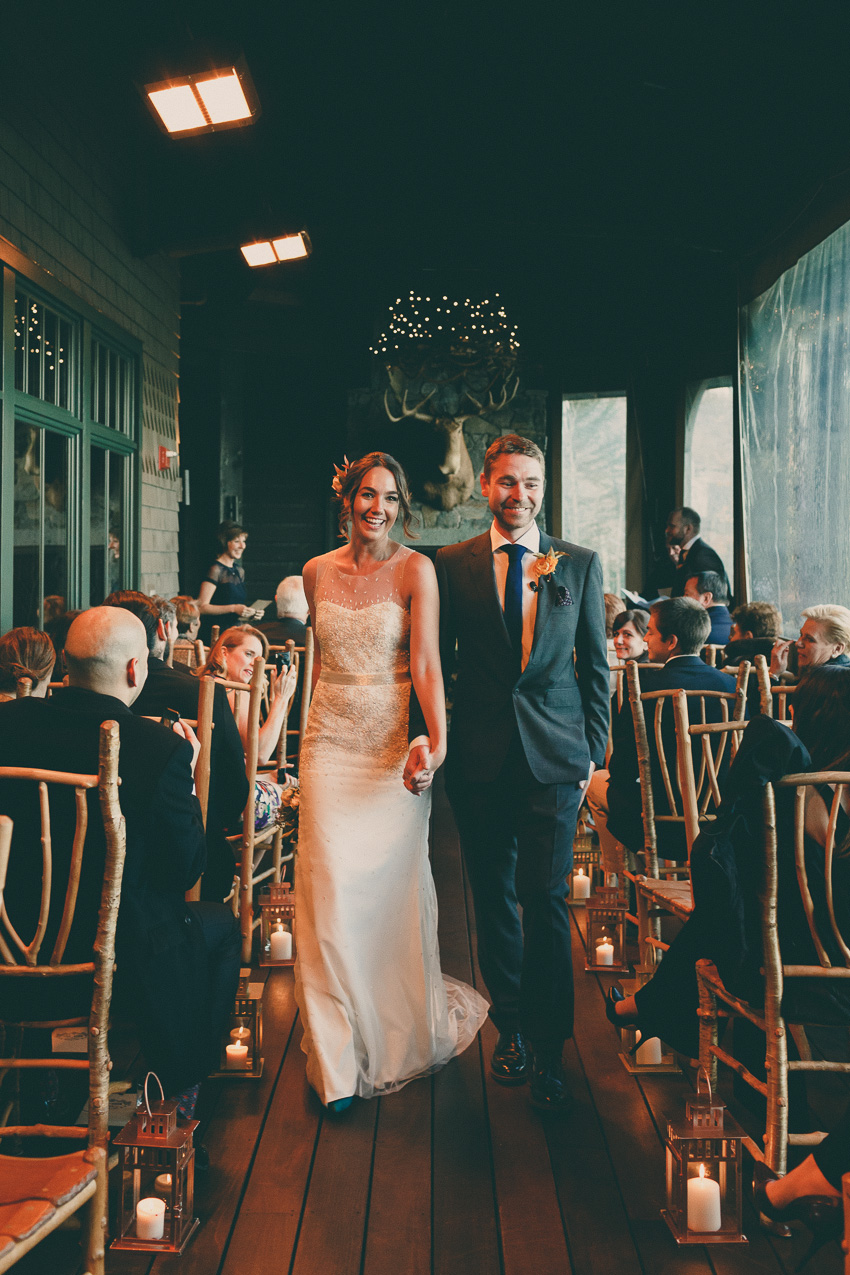 lake placid lodge wedding ceremony photos