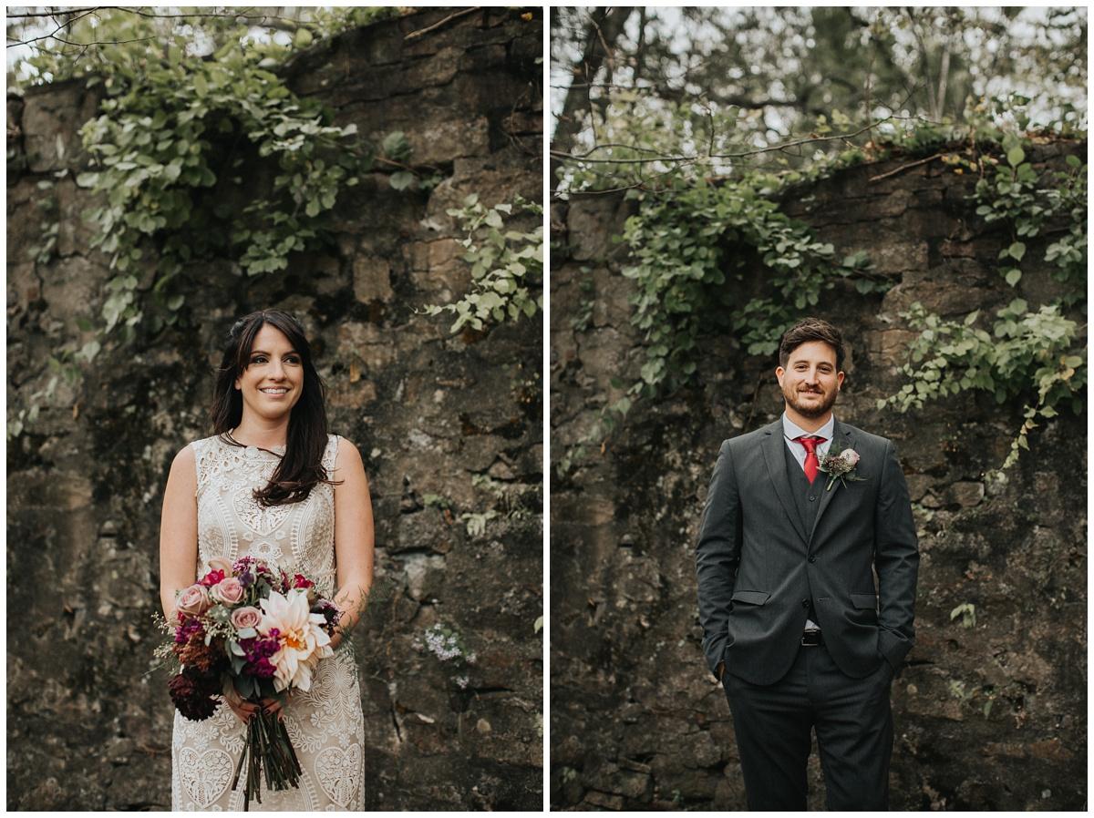 bhldn bride, Roane Gown, jewel toned bridal bouquet