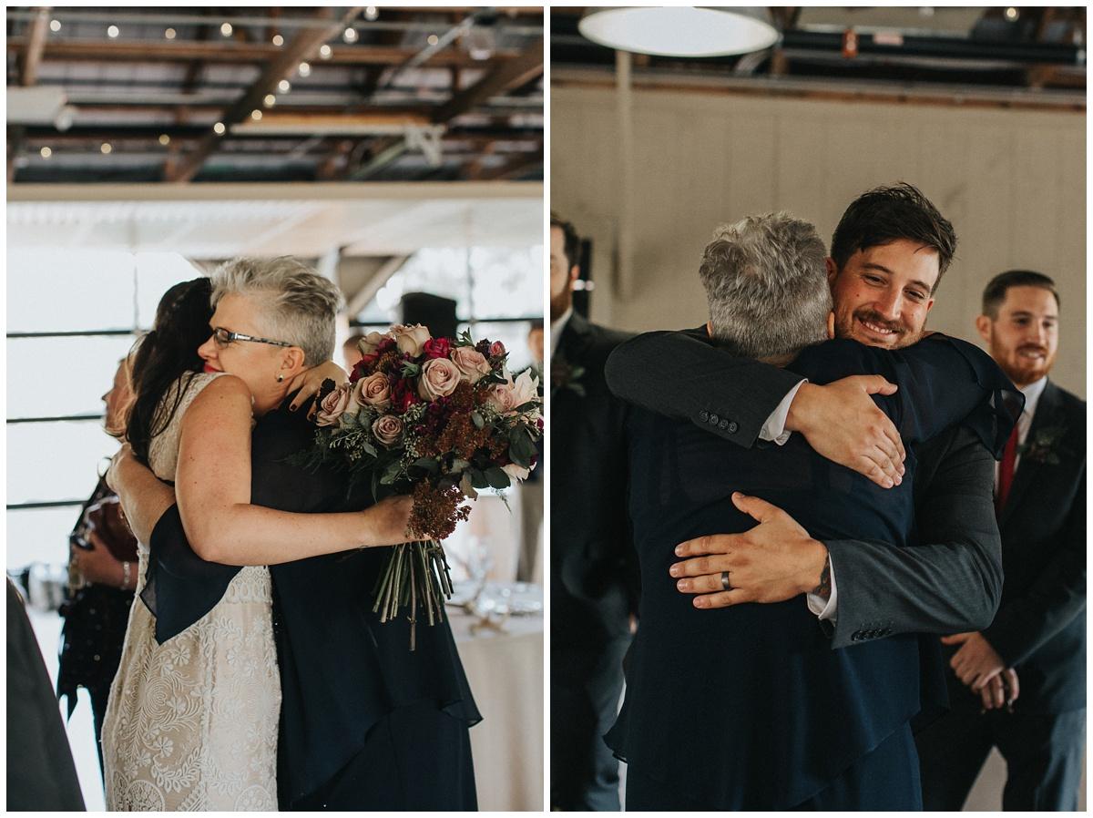 congratulations after wedding, hugs