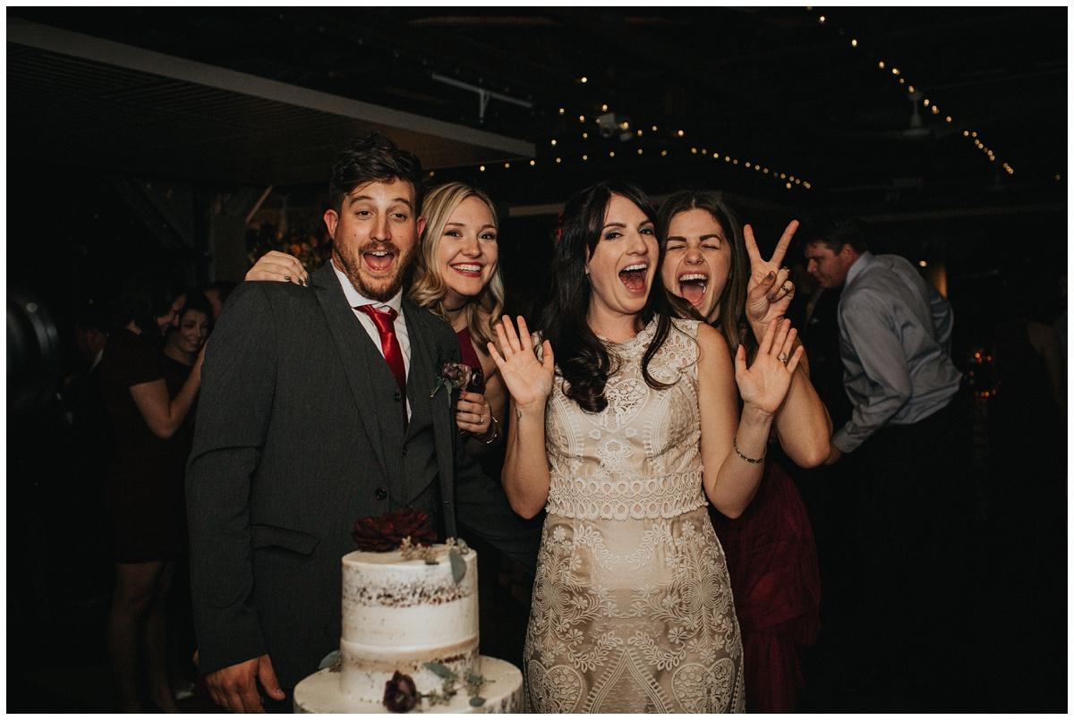 fun cake cutting photo