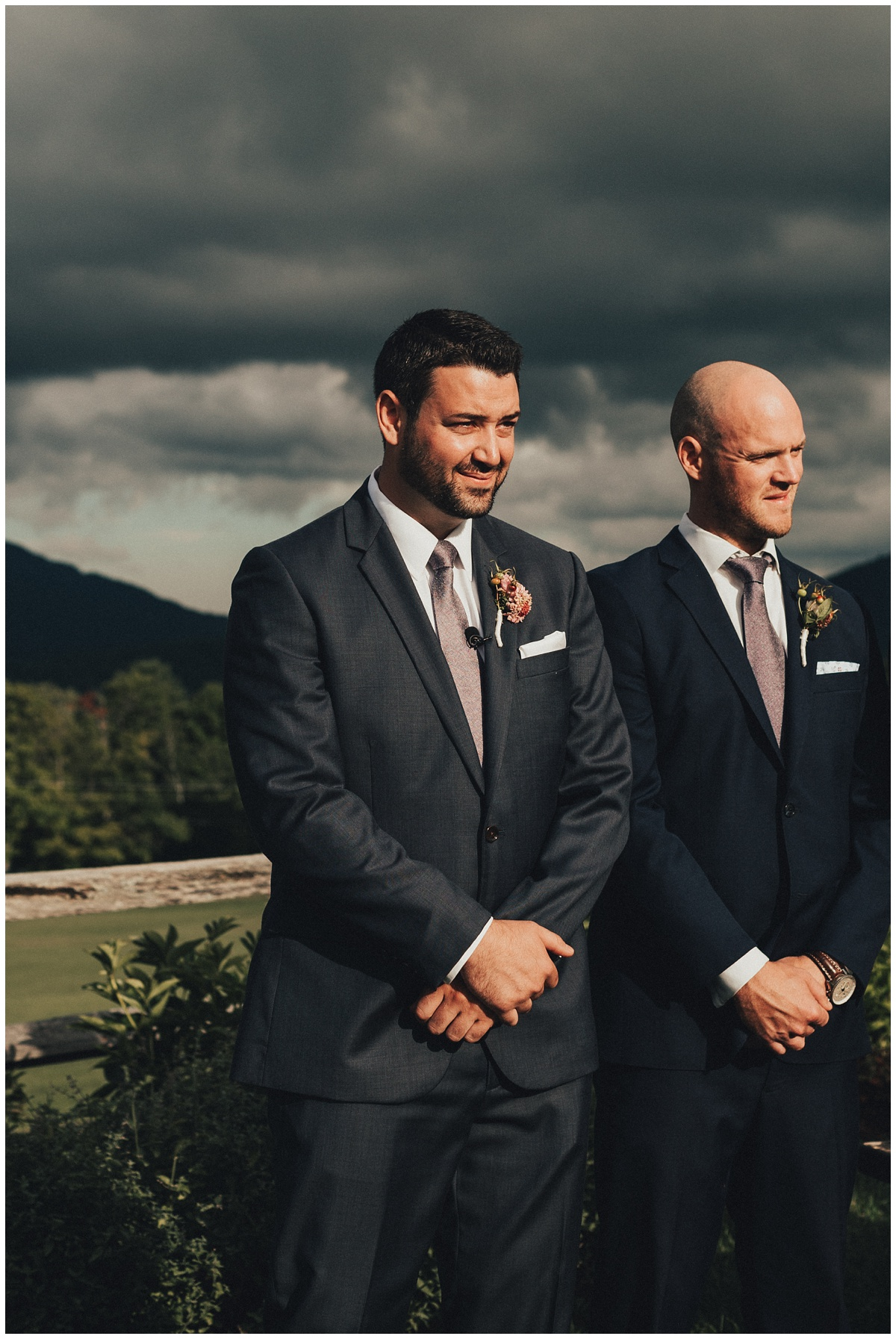 groom reaction during ceremony