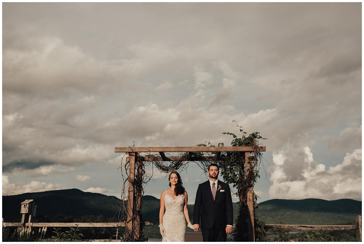 epic wedding ceremony mountain