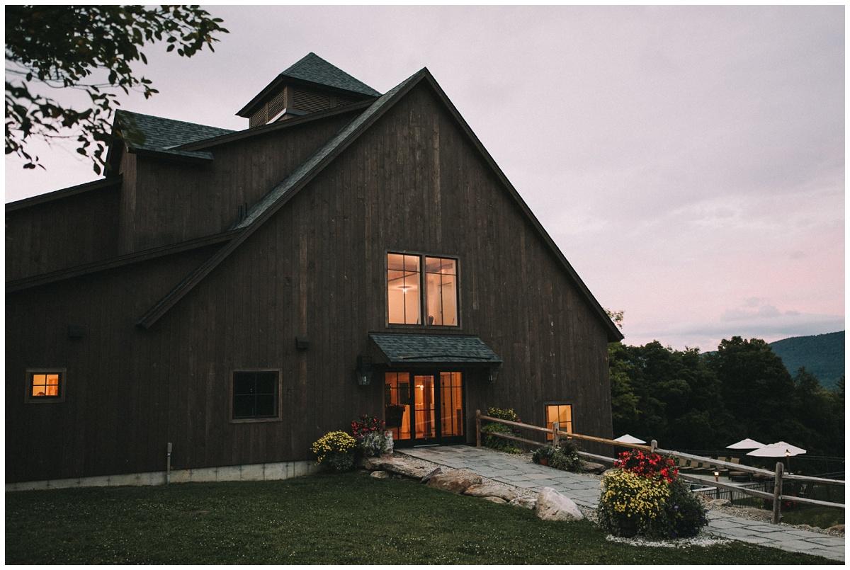 mountain top inn wedding reception