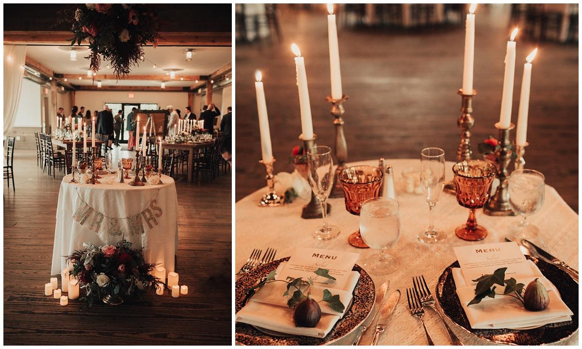 modern barn wedding reception
