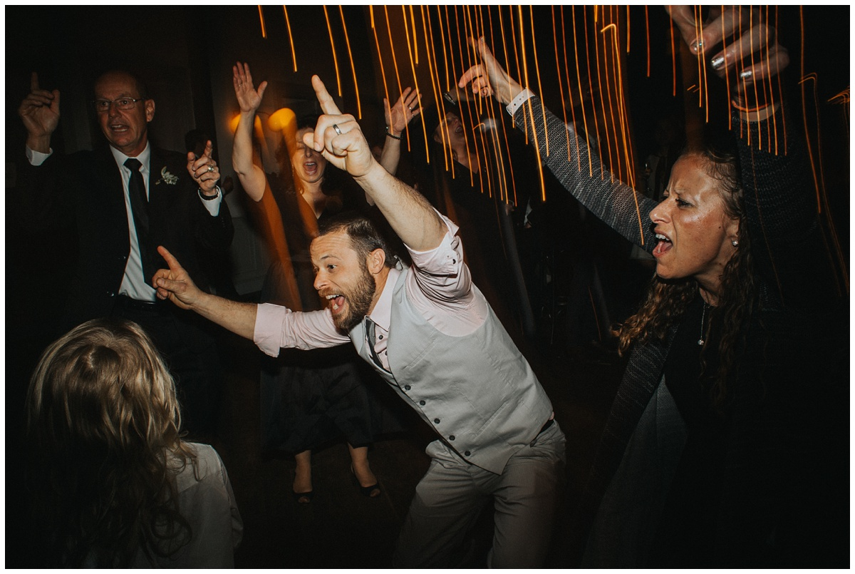 blurred lights wedding dancing photos at wythe hotel