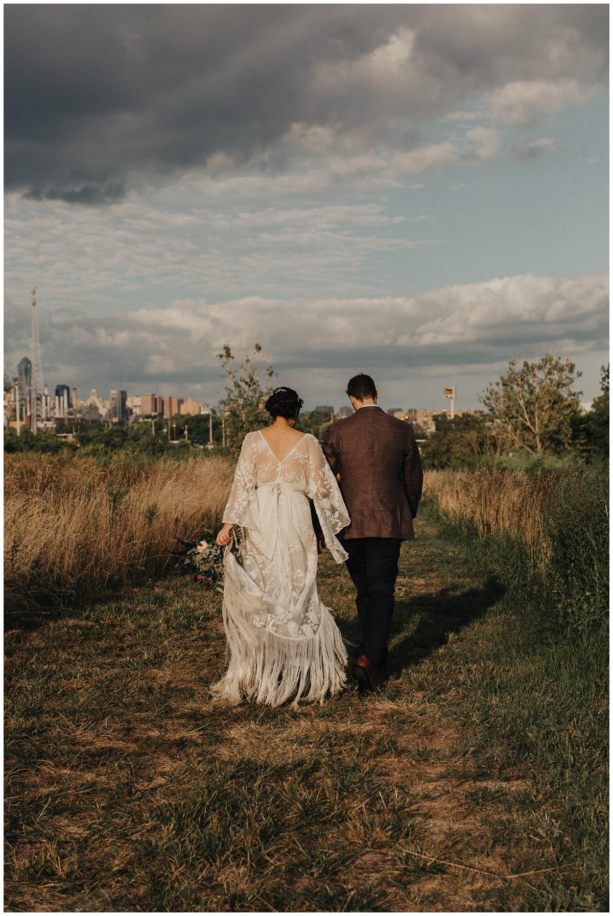philadelphia wedding sunset photo
