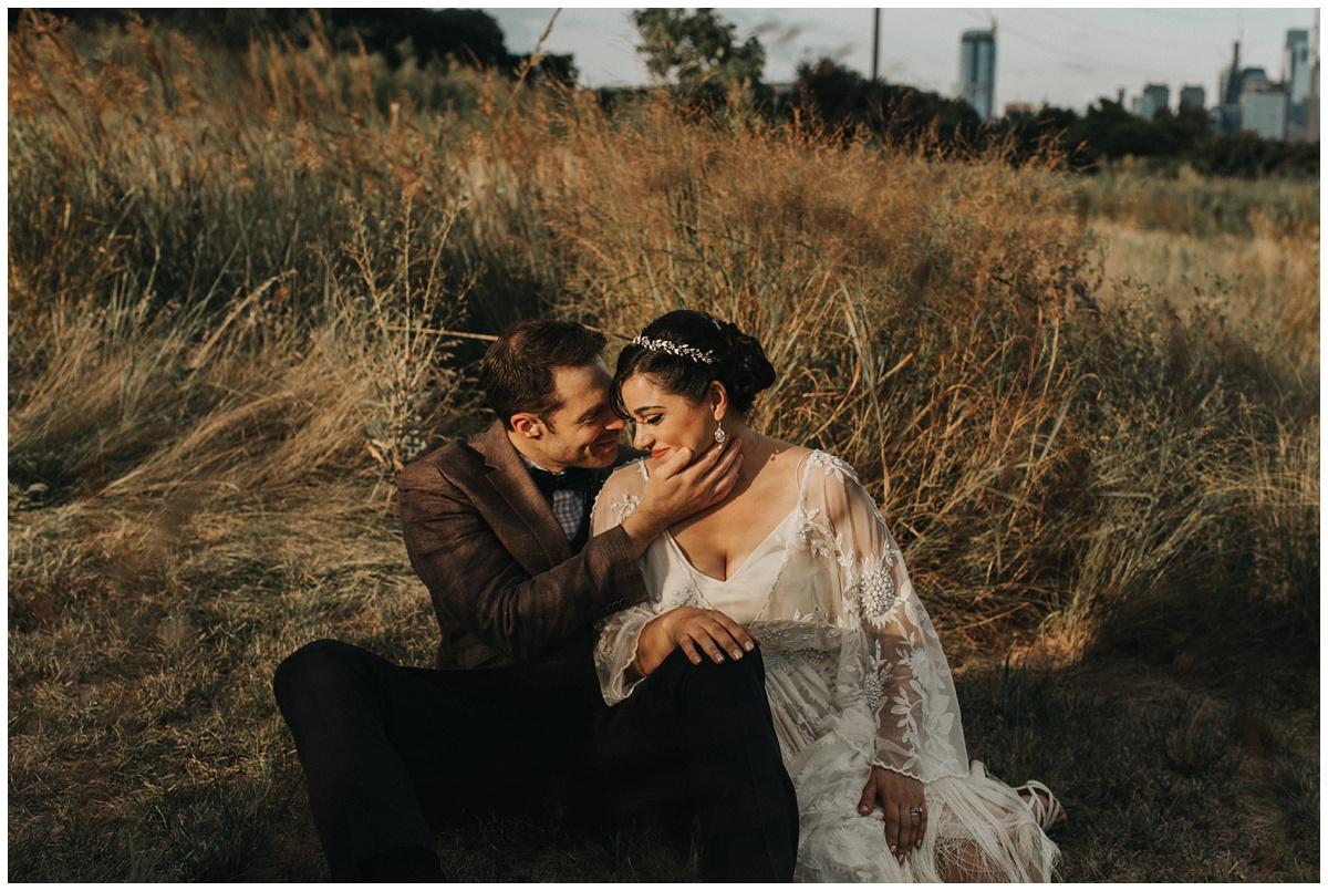 philadelphia wedding photographer sunset photo