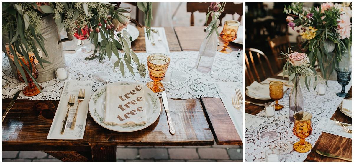 vintage linen wedding