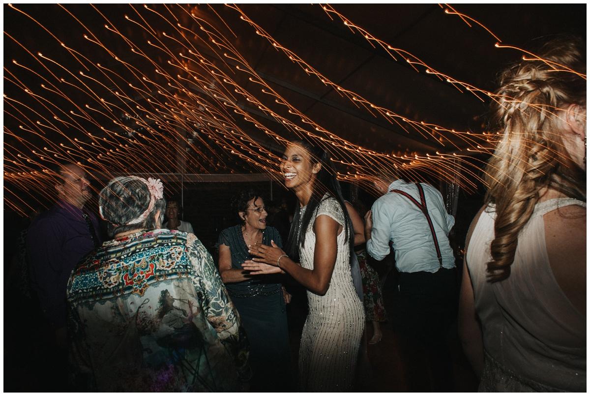 wedding dancing shot blurred lights