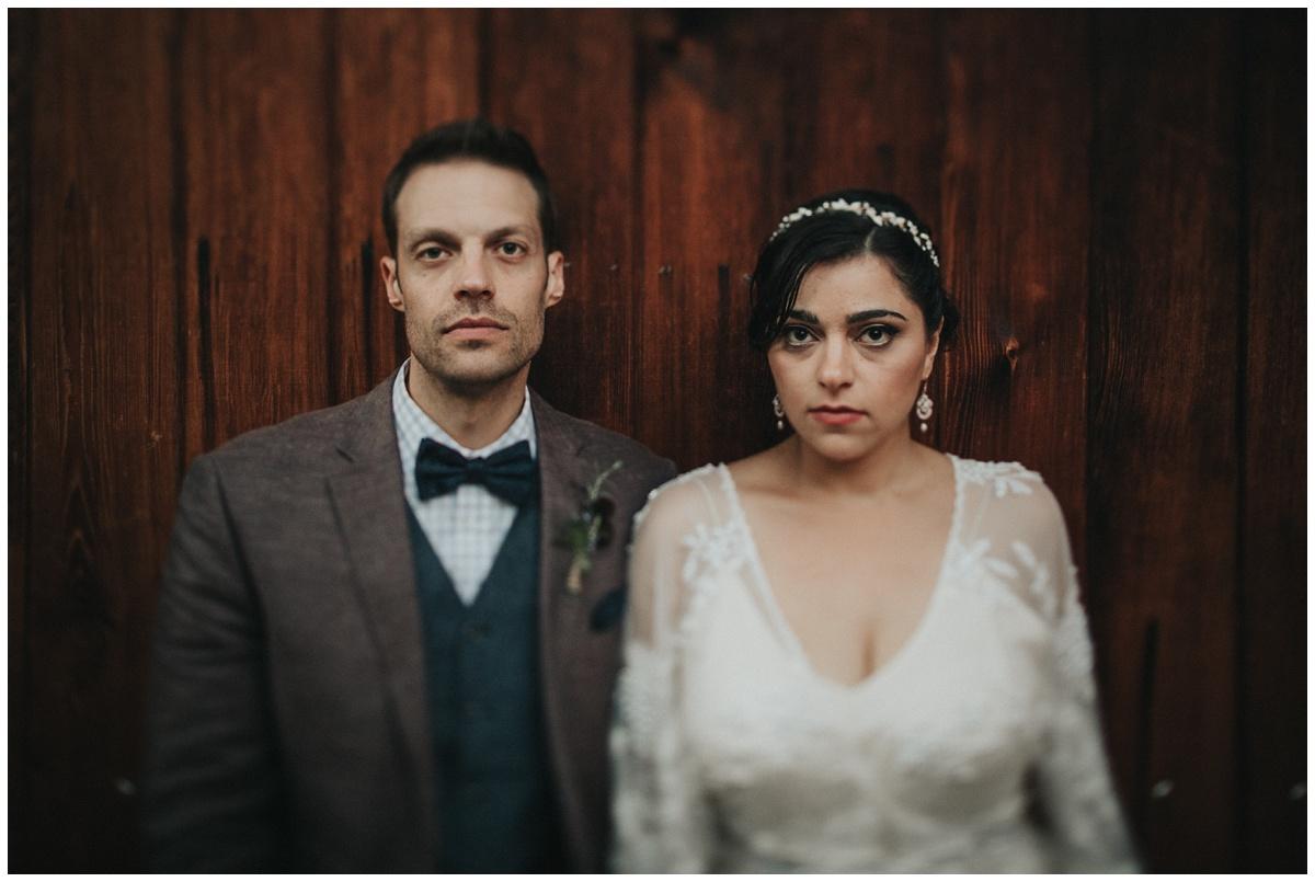 gothic wedding portrait