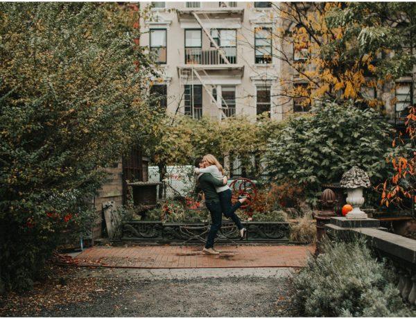 new york engagement session, elizabeth street garden